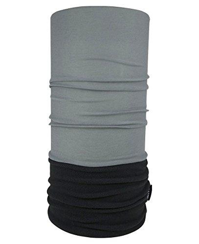 WÄRMENDES FLEECE Multifunktionstuch Polar Schlauchtuch das Halstuch für kalte Herbst und Wintertage. aktuelle Farben, Farbe Polar Tuch:anthrazit mit schwarzem Fleece