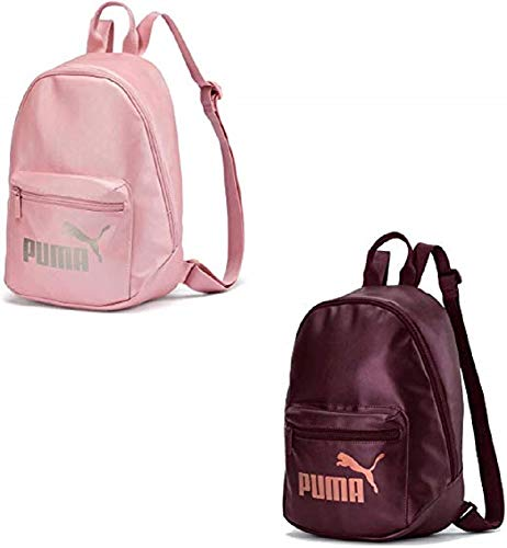 PUMA WMN Core Up Archive Backpack Mochilla, Mujeres, Vineyard Wine-Metallic, OSFA