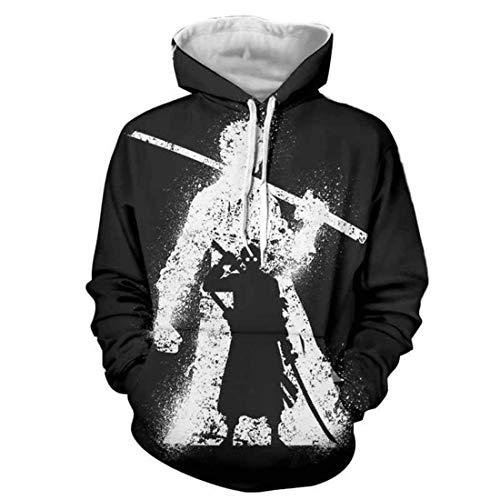 cshsb Herren 3D Kapuzenpullover Hoodie Halloween Cosplay Sweatshirt Hooded Sweat Pullover,A,4XL-5XL