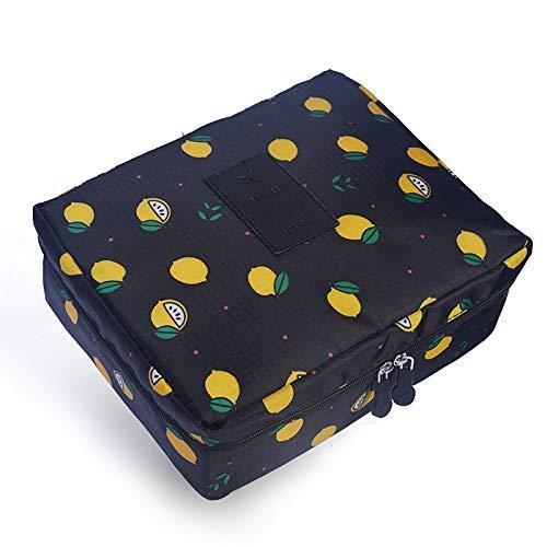 PoplarSun Femmes Maquillage Sac cosmétique Make Portable étanche Trousse Multifonction Sac Voyage Wash (Color : Black)