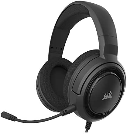 Corsair HS45 7 1 Virtual Surround Sound Gaming Headset w USB DAC Memory Foam Earcups Discord product image