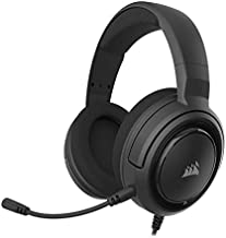 Corsair HS45-7.1 Virtual Surround Sound Gaming Headset w/USB DAC - Memory Foam Earcups - Discord Certified - Works with PC, Xbox Series X, Xbox Series S, PS5, PS4, Nintendo Switch, MacOS - Carbon