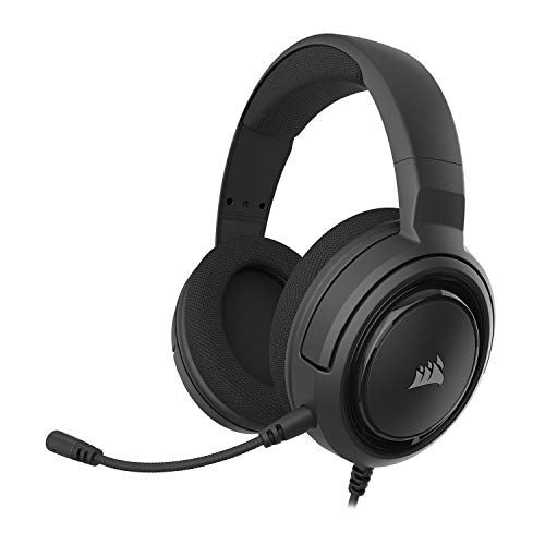 Corsair HS45-7.1 Virtual Surround Sound Gaming Headset w/USB DAC - Memory Foam Earcups - Discord Certified - Works with PC, Xbox Series X, Xbox Series S, PS5, PS4, Nintendo Switch - Carbon
