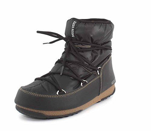 Moon Boot Low Damen Schwarz Nylon Stiefel-UK 6