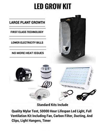 LED Grow Tent Kit - Complete LED Indoor Growing System with an 80x80x160 Grow Tent