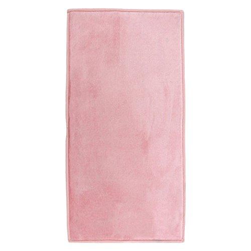 MonBeauTapis 060189 FLANELLE Tapis Polyester Rose Poudré 120 x 60 cm