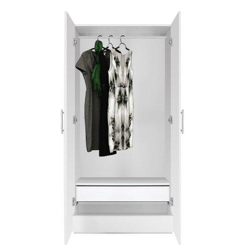 Price comparison product image Alta Wardrobe Closet - 2 Doors,  2 Interior Drawers