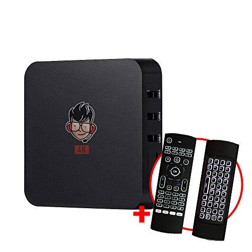 Kit Conversor Smart TV Pro 4K + Controle Remoto universal c/ Teclado LED Air Mouse e IR