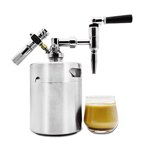 Nitro Cold Brew Coffee Maker Home Keg Kit System Stainless Steel Growler 64 oz