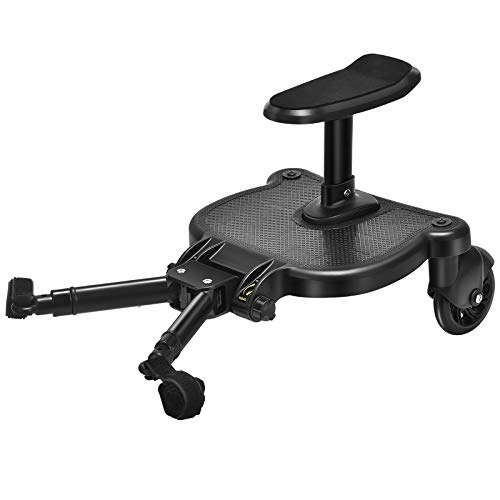 Tabla universal, 4 YANG Kiddy Board, con asiento de pie tabla, diseño estable de dos ruedas, accesorios para cochecito