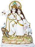 Lord Radha Krishna - Figura decorativa de mármol (48 cm)