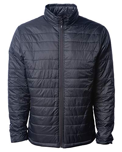 Global Blank Mens' Down Puffer Jacket Water-Resistant Packable Puff Winter Coat Black