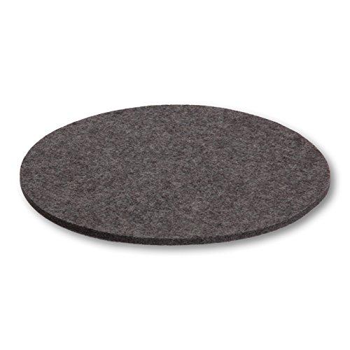 Filzbrand sous-Verre sous-Plat en Feutre de Laine déco Premium Haut de Gamme, Rond, 25 cm Ø, 5 mm d'épaisseur, 1 pièce, Anthracite