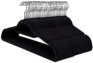 Snug Velvet Clothes Hangers - 50 Pack - for Shirts/Skirts/Pants/Ties
