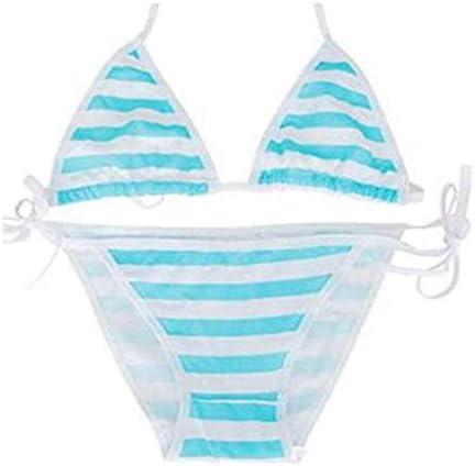 Patiky Women Girls Stripe Bikini 2 Piece Swimsuit Bra Underwear Panties Bikini01
