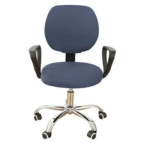 RenHe Stuhlhusse, elastisch, für Computerstuhl, drehbar, ausziehbar, für Arbeitssessel, Dunkelgrau