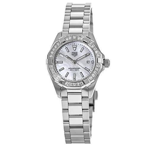 Tag Heuer Aquaracer Diamond White Madre Perla Dial Reloj de señoras WBD1413.BA0741