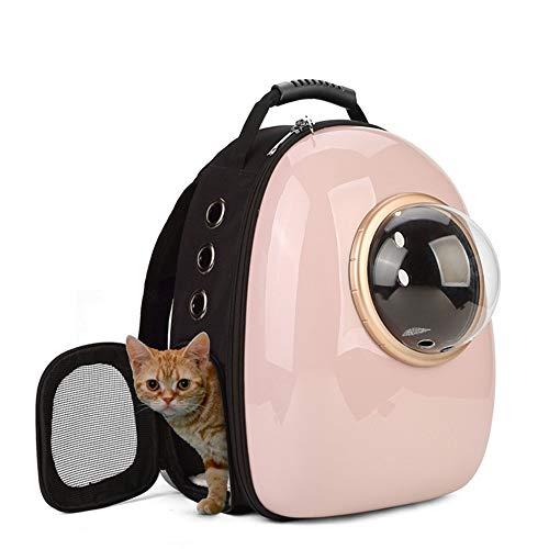 TOMSSL Rosa Haustierkäfigkatzen-Hundereise, die das Kampieren der Wasserdichten Handtasche der Rucksackraumkapsel-Blase im Freien Portable wandert