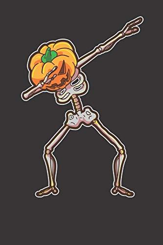 Notebook: Halloween Shirt Dabbing Skeleton Pumpkin Dab Funny Dot Grid 6x9 120 Pages