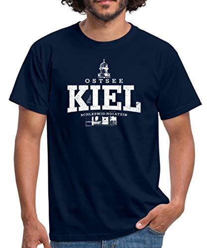 Kiel Ostsee Männer T-Shirt, M, Navy