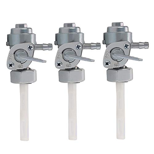 Savior 3pcs Gas Tank Fuel Switch Valve Pump Petcock for Chinese Gasoline Generator 5.5HP 6.5HP 7HP 8HP 9HP 11HP 13HP 14HP 15HP 16HP 168F 163CC 196CC 170F 208CC 211CC 173F 177F 182F 188F 190F