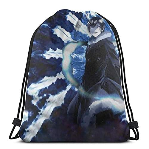 Bolsas de cuerdas Mochila , Durarara !! Izaya Orihara Bolsa de hilo sin costuras Mochila Cinch Bolsa de playa de nailon resistente al agua para gimnasio, compras, deporte, yoga, calcetín