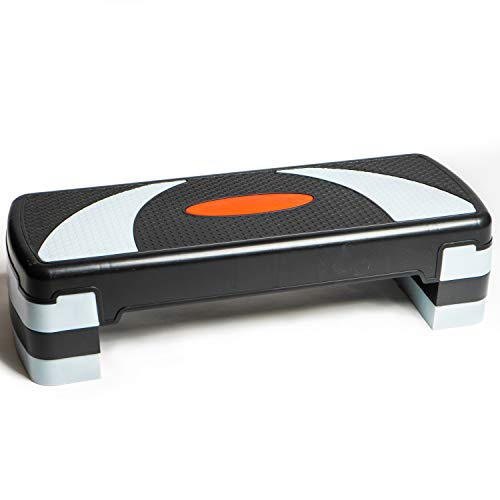 PRISP Step da Aerobica Personalizzabile 78cm, 3 Altezze (10/15/20cm), Compatto pedana Step Ideale per Ginnastica in casa e Allenamento Fitness; Stepper Aerobic; 78 x 28 cm