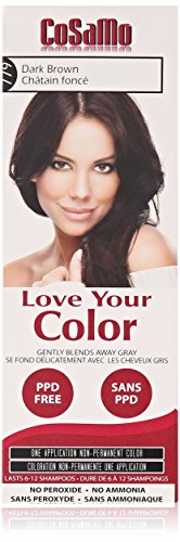 Love Your Color Cosamo Non Permanent Hair Color, Dark Brown