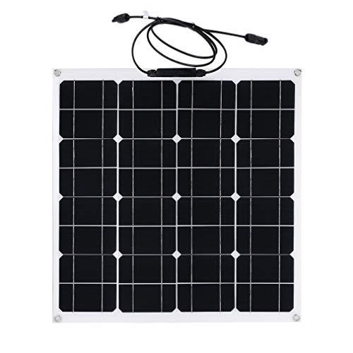 Sweepid Solarmodul 50W 12V Solarpanel Solarzelle monokristallin für Camping Garten