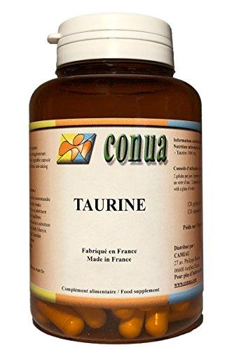 Taurin 120 pflanzliche Kapseln 500mg pulver ( 1000 mg / Tag ) hochdosiert Muskeln, Bodybuilder, Augen, sportliche Anstrengungen, Krämpfe, Schmerzen, belebt Körper und geist, Speicher - Taurin - FLASCHE FÜR 2 MONATE