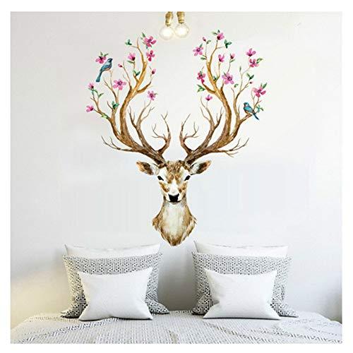 Verwijderbare doe-het-zelf-wandsticker, 3D pruim, bloem, deer, wandtattoos, lijm, keuken, woonkamer, behang, kinderslaapkamer, decoratie