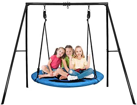 Trekassy 440lbs Swing Set with 40 Inch Saucer Tree Swing Swivel and Heavy Duty A Frame Metal product image