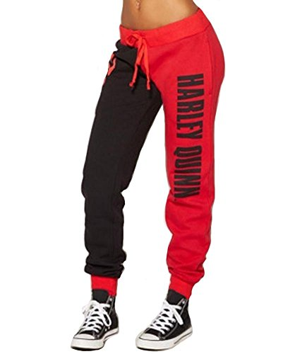V-will Costumes décontractés pour femme - Pantalon de jogging - Pantalon de sport pour adulte et fille, Rouge, M