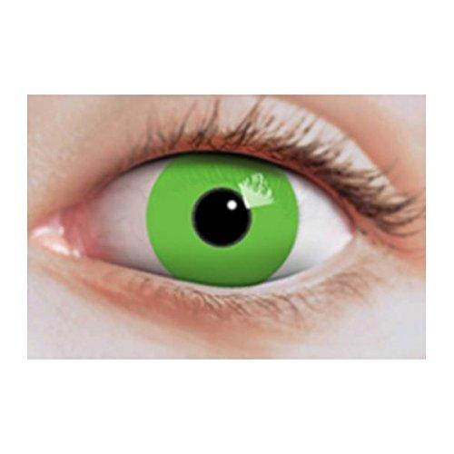 Lentilles de contact fantaisie vert fluo sans correction