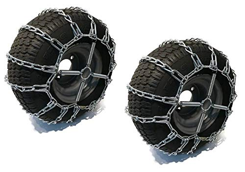Best Prices! The ROP Shop 2 Link TIRE Chains & TENSIONERS 24x12x12 for Kubota Lawn Mower Garden Trac...