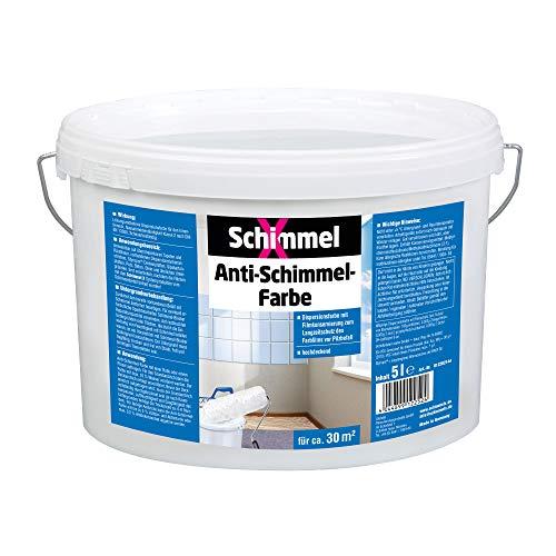 Pufas 5000 SchimmelX Anti-Schimmelfarbe Innen-Farbe mit Langzeitschutz weiß 5Liter