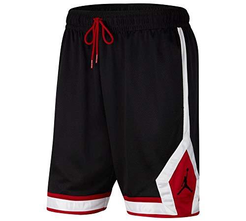 Nike J Jumpmn Diamond Shorts, Black Gym Red White Black, M Maschio