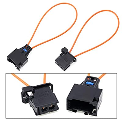 Glarks 2Pcs Fiber Most Optical Optic Loop Bypass Male and Female Adapter for Radio and Audio