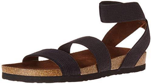 White Mountain Shoes'HARLEQUIN' Women's Sandal, BLACK/ELASTIC/FAB, 8 M