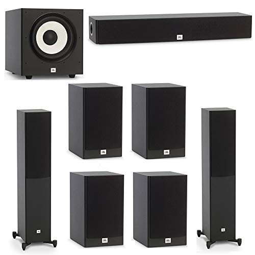 Buy Bargain JBL 7.1 System with 2 JBL Stage A170 Floorstanding Speakers, 1 JBL Stage A135C Center Sp...