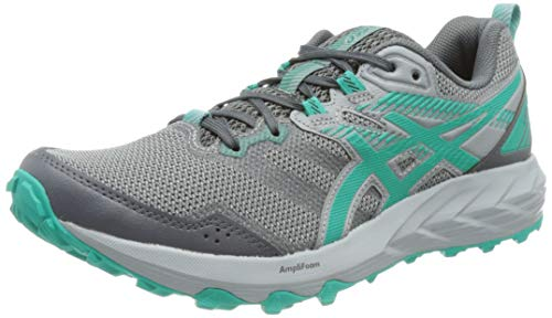 Asics Gel-Sonoma 6, Trail Running Shoe Mujer, Carrier Grey/Baltic Jewel, 38 EU
