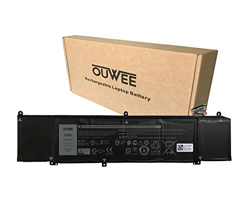 OUWEE XRGXX Laptop Battery Compatible with Dell G7 7590 7790 G5 5590-D2783W D2743B D2865B D2863W D2842W D2843W Alienware M15 M17 R1 Series Notebook 1F22N 0JJPFK 08622M 06YV0V 11.4V 90Wh 7500mAh 6-Cell