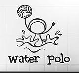 xinyouzhihi Uno de los Deportes Water Polo Imagen Divertida Pegatinas de Pared Calcomanía de Vinilo a Prueba de Agua Habitación de los niños Decoración Creativa Calcomanías Mural 77x75cm