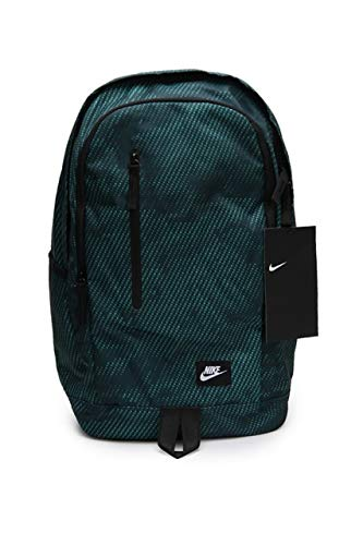 Nike NK All Access Soleday bkpk-AOP Mochila Unisex, Jungle Profunda/Negro/Blanco