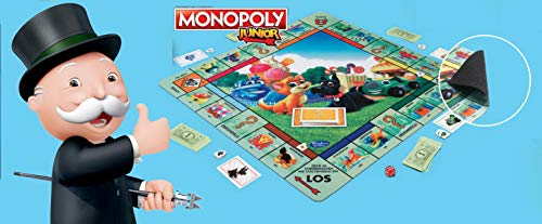 Hasbro Gaming Monopoly Junior XL Spielmatte 61x61cm Deutsche Version Kinderspiel Brettspiel