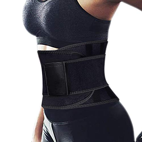 Hually Rückenbandage Rückengurt, Bauchweggürtel Damen & Herren Schwitzgürtel,Lindert Schmerzen und Beugt Verletzungen Vor Schnell & Einfach Abnehmen mit dem Fitnessgürtel fürs Training & Fitness