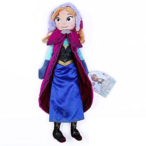 qiegui Juguete De Peluche De Dibujos Animados Princesa Frozen Elsa Anna 40Cm Muñeca De Peluche Almohada De Peluche Suave Juguetes Regalos De Cumpleaños para Niños