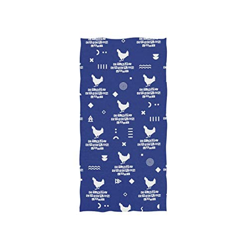 Bert-Collins Towel Toalla de Playa Decorativa Chicken Lady para baño Fitness, 80x130cm