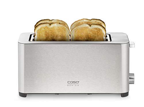 Caso Classico T 4 - Design Toaster für 4 Scheiben Toast, edelstahl