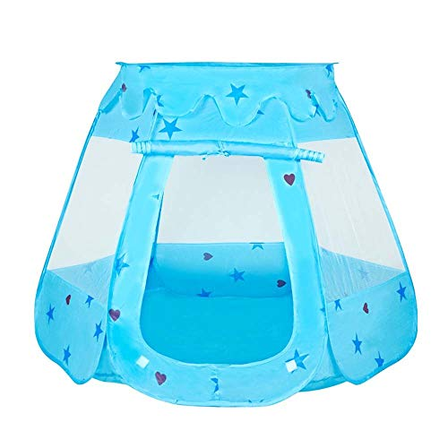 Ysswjzzzz Software games indoor/outdoor game tents, children's playground gifts baby girls boys children's toys excluding balls (Color : Blue, Size : M)